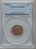 Lincoln Cents: , 1928-S 1C MS63 Brown PCGS. PCGS Population (51/20). NGC Census:(16/18). Mintage: 17,266,000. Numismedia Wsl. Price for pro...