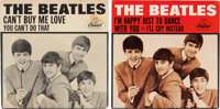 "Beatles ""Can't Buy Me Love"" and ""I'm Happy Just to Dance With You"" 45 Singles and Picture Sleeves (C..."