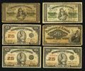 Canadian Currency: , More Shinplasters - 1870; 1900; and 1923.. ... (Total: 6 notes)