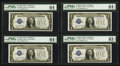 Small Size:Silver Certificates, Fr. 1600 $1 1928 Silver Certificates. Ten Consecutive Examples.. ... (Total: 10 notes)
