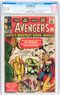 Silver Age (1956-1969):Superhero, The Avengers #1 (Marvel, 1963) CGC VG- 3.5 Cream to off-whitepages....