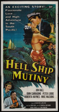 "Movie Posters:Adventure, Hell Ship Mutiny (Republic, 1957). Three Sheet (41"" X 81"").Adventure. ..."