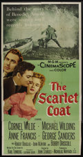 "Movie Posters:Adventure, The Scarlet Coat (MGM, 1955). Three Sheet (41"" X 81""). Adventure...."
