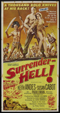 "Movie Posters:Adventure, Surrender - Hell! (Allied Artists, 1959). Three Sheet (41"" X 81"").Adventure. ..."