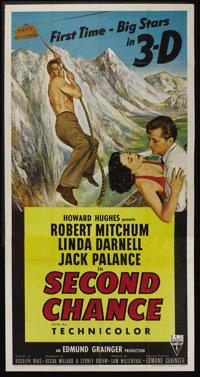"Second Chance (RKO, 1953). Three Sheet (41"" X 81"") 3-D Style. Thriller"