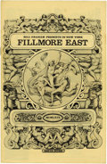 Music Memorabilia:Memorabilia, B. B. King Fillmore East Program (1969). Also featuring Winter(Johnny Winter), Terry Reid, and Joshua Light Show. January 1...(Total: 1 Item)