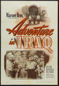 "Movie Posters:Adventure, Adventure in Iraq (Warner Brothers, 1943). One Sheet (27"" X 41"").Adventure. Starring John Loder, Ruth Ford, Warren Douglas,..."