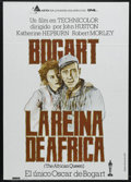 "Movie Posters:Adventure, The African Queen (United Artists, R-1980). Spanish One Sheet(27.5"" X 39""). Adventure. Starring Humphrey Bogart, Katharine ..."