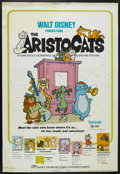 "Movie Posters:Animated, The Aristocats (Buena Vista, R-1973). Poster (40"" X 60""). AnimatedComedy. Starring the voices of Phil Harris, Eva Gabor, St..."