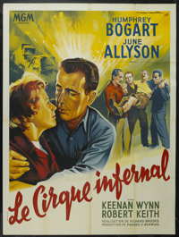 "Battle Circus (MGM, 1953). French Grande (47"" X 63""). War. Starring Humphrey Bogart, June Allyson, Keenan Wynn..."