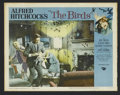 """Movie Posters:Hitchcock, The Birds (Universal, 1963). Lobby Card (11"""" X 14""""). Thriller. Directed by Alfred Hitchcock. Starring Rod Taylor, Jessica Ta..."""
