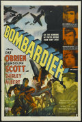 "Movie Posters:War, Bombardier (RKO, 1943). One Sheet (27"" X 41""). War. Starring PatO'Brien, Randolph Scott, Anne Shirley, Eddie Albert and Wal..."