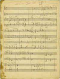 "Duke Ellington ""Cabin In the Cotton"" Four Page Handwritten Score. One of America's most beloved composers, Edw..."