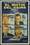 "Movie Posters:War, The Caine Mutiny (Columbia, 1954). Spanish Language One Sheet (27""X 41""). War. Starring Humphrey Bogart, José Ferrer, Van J..."