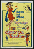 """Movie Posters:Comedy, Carry on Teacher (Governor Films, 1962). One Sheet (27"""" X 41""""). Comedy. Starring Ted Ray, Kenneth Connor, Kenny Williams, Jo..."""