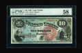 Large Size:Legal Tender Notes, Fr. 96 $10 1869 Legal Tender PMG Choice About Unc 58....