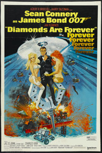 "Diamonds Are Forever (United Artists, 1971). One Sheet (25"" X 38.5""). Action. Starring Sean Connery, Jill St..."