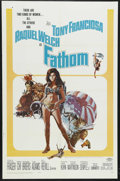 "Movie Posters:Adventure, Fathom (20th Century Fox, 1967). One Sheet (27"" X 41""). Comedy.Starring Anthony Franciosa, Raquel Welch, Ronald Fraser, Ric..."