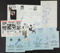 Miscellaneous Collectibles:General, Misc. Sports Signed Banquet Programs, etc. Lot of 10....