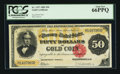 Large Size:Gold Certificates, Fr. 1197 $50 1882 Gold Certificate PCGS Gem New 66PPQ.. ...