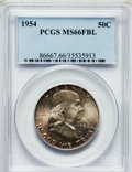 Franklin Half Dollars: , 1954 50C MS66 Full Bell Lines PCGS. PCGS Population (76/1). NGCCensus: (11/0). Numismedia Wsl. Price for problem free NGC...