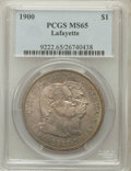 Commemorative Silver: , 1900 $1 Lafayette Dollar MS65 PCGS. PCGS Population (267/80). NGCCensus: (195/66). Mintage: 36,026. Numismedia Wsl. Price ...