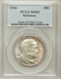 Commemorative Silver: , 1936 50C Robinson MS65 PCGS. PCGS Population (1056/478). NGCCensus: (784/233). Mintage: 25,265. Numismedia Wsl. Price for ...