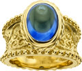Estate Jewelry:Rings, Cynthia Bach Sapphire, Gold Ring. ...