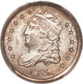 Bust Half Dimes, 1835 H10C Large Date, Small 5C -- Clamshell Split Planchet -- MS64PCGS. V-10, LM-5, R.3....