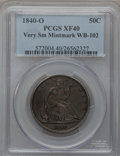 Seated Half Dollars: , 1840-O 50C XF40 PCGS. Very Small Mintmark, WB-102. PCGS Population(16/71). NGC Census: (8/58). Mintage: 855,100. Numismedi...