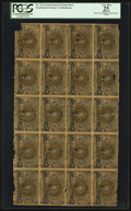 Fractional Currency:Second Issue, Fr. 1232 5¢ Second Issue Uncut Sheet of Twenty PCGS Apparent Very Fine 25.. ...