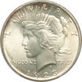 Peace Dollars: , 1923 $1 MS66+ PCGS. CAC. PCGS Population (1640/46). NGC Census:(2884/89). Mintage: 30,800,000. Numismedia Wsl. Price for p...