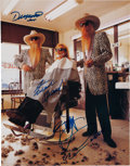 Music Memorabilia:Autographs and Signed Items, ZZ Top Signed Publicity Photo Print (2005)....