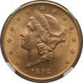 Liberty Double Eagles: , 1892-S $20 MS62 NGC. NGC Census: (1442/404). PCGS Population(1253/679). Mintage: 930,150. Numismedia Wsl. Price for proble...