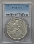 Seated Dollars: , 1859-O $1 XF40 PCGS. PCGS Population (41/665). NGC Census:(18/464). Mintage: 360,000. Numismedia Wsl. Price for problem fr...
