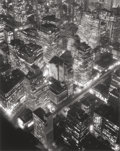 Photographs:20th Century, BERENICE ABBOTT (American, 1898-1991). New York at Night,1932. Gelatin silver later, circa 1987. 22-1/4 x 18 inches (56...