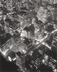 BERENICE ABBOTT (American, 1898-1991) New York at Night, 1932 Gelatin silver later, circa 1987 22