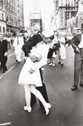 Photographs:20th Century, ALFRED EISENSTAEDT (American, 1898-1995). VJ Day, Times Square,NYC, 1945. Gelatin silver, 1993. 17-3/4 x 11-3/4 inches ...