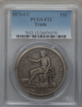 Trade Dollars: , 1873-CC T$1 Fine 12 PCGS. PCGS Population (2/213). NGC Census:(1/119). Mintage: 124,500. Numismedia Wsl. Price for problem...