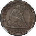 Seated Quarters: , 1877 25C MS64 NGC. NGC Census: (79/123). PCGS Population (66/148).Mintage: 10,911,710. Numismedia Wsl. Price for problem f...
