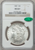 Morgan Dollars: , 1887 $1 MS66+ NGC. CAC. NGC Census: (3662/313). PCGS Population(1374/71). Mintage: 20,290,710. Numismedia Wsl. Price for p...