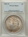Morgan Dollars: , 1891-O $1 MS64 PCGS. PCGS Population (1374/87). NGC Census:(1016/72). Mintage: 7,954,529. Numismedia Wsl. Price for proble...
