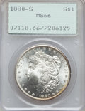 Morgan Dollars: , 1880-S $1 MS66 PCGS. PCGS Population (9513/1949). NGC Census:(11032/3341). Mintage: 8,900,000. Numismedia Wsl. Price for p...
