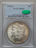 Morgan Dollars: , 1904-O $1 MS66 PCGS. CAC. PCGS Population (806/30). NGC Census:(1382/86). Mintage: 3,720,000. Numismedia Wsl. Price for pr...