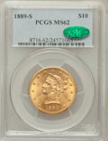 Liberty Eagles: , 1889-S $10 MS62 PCGS. CAC. PCGS Population (380/250). NGC Census:(420/107). Mintage: 425,400. Numismedia Wsl. Price for pr...