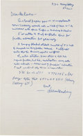 Autographs:Authors, Allen Ginsberg Autograph Letter Signed with Booklet Signed.... (Total: 2 Items)