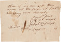 Autographs:Military Figures, [French and Indian War]. Autograph Note Regarding the Siege of Fort William Henry....