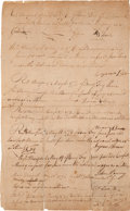 Autographs:Statesmen, [Revolutionary War]. 1776 Enlistment Oath of Allegiance....