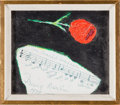 """Autographs:Celebrities, Irving Berlin Original Artwork with """"White Christmas"""" Musical Quotation with Lyrics and Typed Letter Signed.... (Total: 2 Items)"""