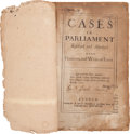 "Miscellaneous:Ephemera, ""Cases in Parliament"" with Annotations...."